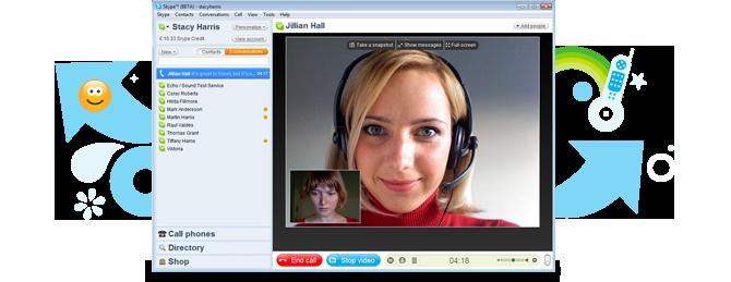 Skype 4.0 Benutzeroberfläche