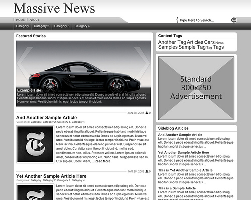 Massiv News WordPress Theme