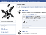 wordpress themes im Facebook Look