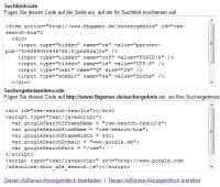 Adsense Suche Code