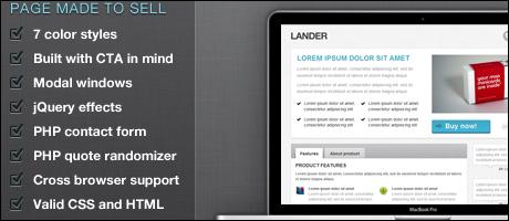 Landingpage Template: Lander