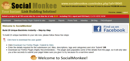 socialmonkee dashboard