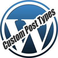 wordpress logo custom-post-type