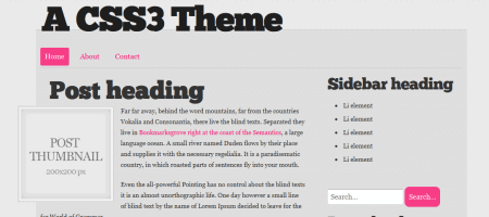 css3 html5 wordpress theme