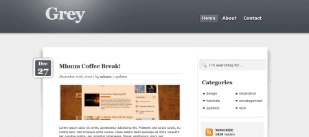 grey html5 wordpress theme