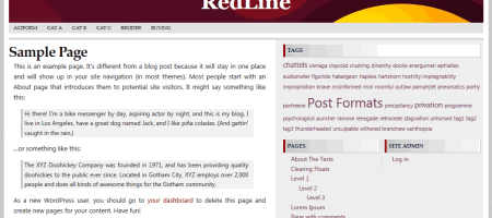 redline wordpress theme