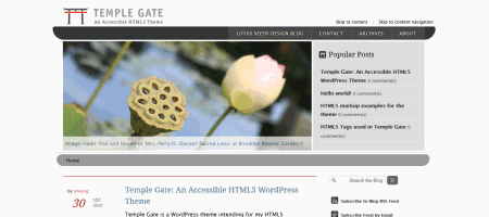 temple gate theme html5