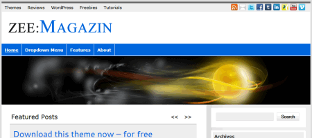 zeemagazin html5 wordpress theme