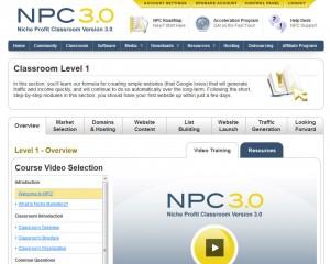 Screenshot Niche Profit Classroom Leve 1 Core Training