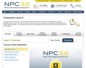 Screenshot Niche Profit Classroom Level 2 Profit Boost